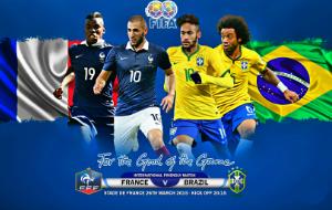 Koondiste sõpruskohtumised - Prantsusmaa vs Brasiilia