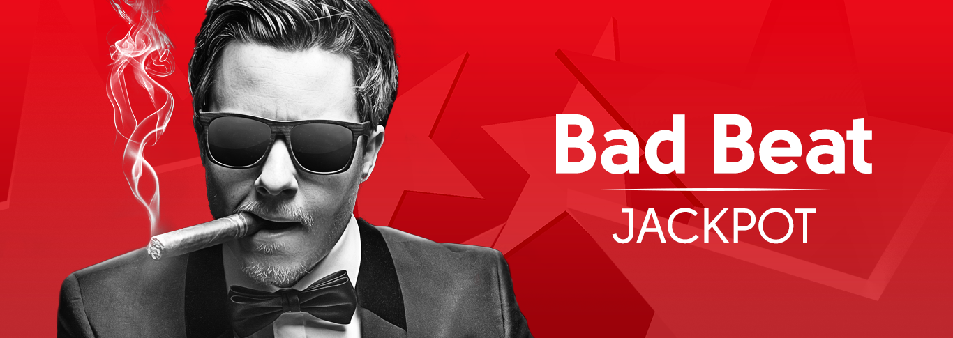 You can easily get your biggest poker winning with our Bad Beat Jackpot!